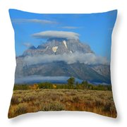 Layering Clouds Throw Pillow