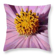 Layers Of A Cosmos Flower Throw Pillow