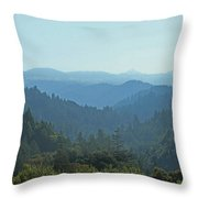Layers Of Forest And Bllue Sky Throw Pillow