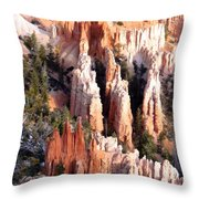 Layers Of Hoodoos And Bluffs Throw Pillow
