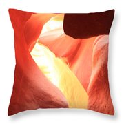 Layers Of Light And Sandstone Throw Pillow