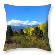 Layers Of Mountains Throw Pillow