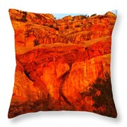 Layers Of Orange Rock Throw Pillow