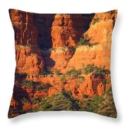 Layers Of Red Rock Throw Pillow