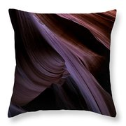 Layers Of The Desert Throw Pillow