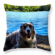 Layin On The Beach Throw Pillow