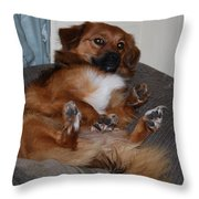 Laying Back Throw Pillow
