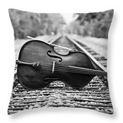 Laying Down Some Tracks Throw Pillow by Scott Pellegrin