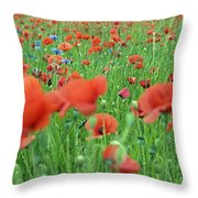 Laying In The Poppy Field Throw Pillow