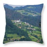 Lazec, Near Cerkno, Littoral Region Throw Pillow