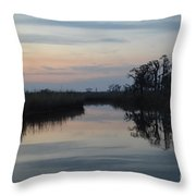 Lazy Bayou Throw Pillow