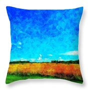 Lazy Clouds In The Summer Sun Throw Pillow