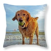 Lazy Summer Days At The Beach Throw Pillow by Nishanth Gopinathan