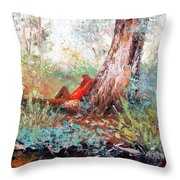 Lazy Summer's Day By Jan Matson Throw Pillow