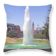 L B J Library Fountain Throw Pillow