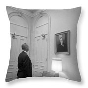 Lbj Looking At Fdr Throw Pillow by War Is Hell Store