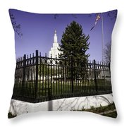 Lds Idaho Falls Temple Throw Pillow