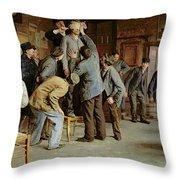 Le Bain De Pieds Inattendu Throw Pillow