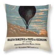 Le Ballon Advertising For French Aeronautical Journal Throw Pillow
