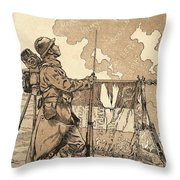 Le Bleuet. Symbol Of Memory And Solidarity In France, For Veterans And Victims Of The First World Throw Pillow