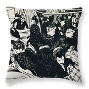Le Bon Marche Throw Pillow