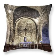 Le Castellet Medieval Church Throw Pillow