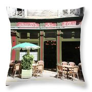 Le Charleston Bar In Tournus Throw Pillow