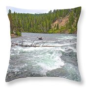 Le Hardy Rapids In Yellowstone River In Yellowstone National Park-wyoming   Throw Pillow