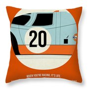 Le Mans Poster Throw Pillow by Naxart Studio