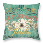 Le Marche Aux Fleurs 6 Throw Pillow by Debbie DeWitt