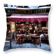 Le Marmiton De Lutece Paris France Throw Pillow