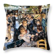 Le Moulin De La Galette Throw Pillow