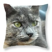Le Petit Chat Throw Pillow