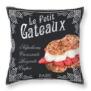 Le Petit Gateaux Throw Pillow by Debbie DeWitt