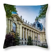 Le Petit Palais Throw Pillow
