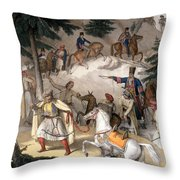 Le Pinde - Plate Xi, Engraved Throw Pillow
