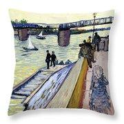 Le Pont De Trinquetaille Throw Pillow