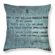 Le Pont Mirabeau Throw Pillow