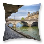 Le Pont Napoleon Paris Throw Pillow