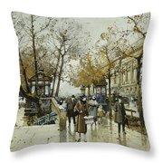 Le Quai De Louvre Paris Throw Pillow