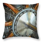 Le Rhone C-9j Engine Throw Pillow