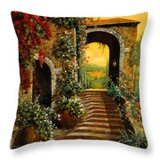 Le Scale   Throw Pillow by Guido Borelli