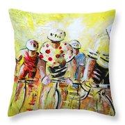 Le Tour De France 07 Acrylics Throw Pillow