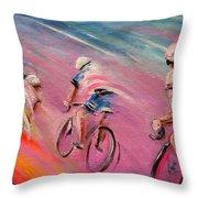 Le Tour De France 16 Acrylics Throw Pillow