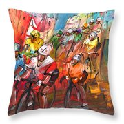 Le Tour De France Madness 04 Throw Pillow
