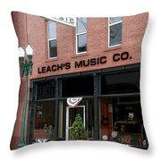 Leach's Music Throw Pillow