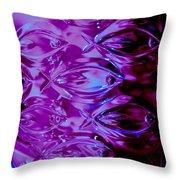 Lead Crystal Vase Throw Pillow