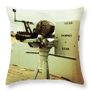 Lead Dammit Lead Throw Pillow
