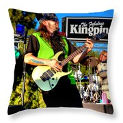 Lead Guitarist Jimmy Dence - The Fabulous Kingpins Throw Pillow