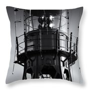Lead Me Home Lightship. Throw Pillow